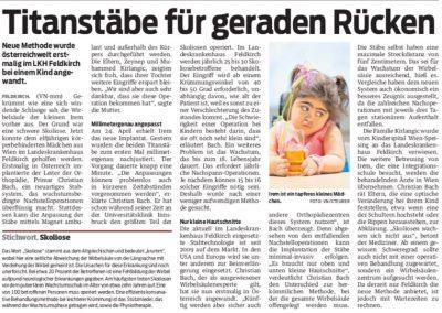 Pressebericht Zeitungsausschnitt VN